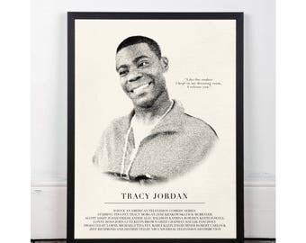 Tracy Jordan, 30 Rock, INSTANT DOWNLOAD, sitcom, Printable wall art decor poster, pop art, funny art, Alec Baldwin, Tina Fey, Jack Donaghy