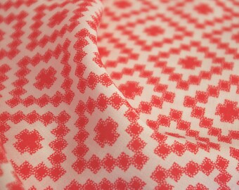 Orange Geometric Print Viscose