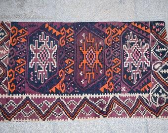Armenian kilim lumbar pillow handwoven handmade pillow orange color cushion cover decorative kilim cover anatolian rug pillow dark color