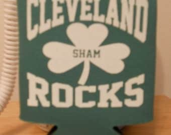 Kelly Green Cleveland Sham Rocks Koozie