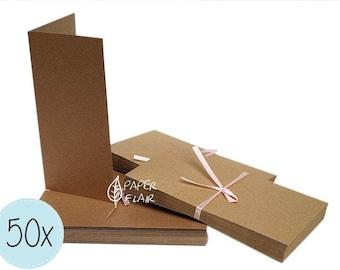 50 cards + envelopes kraft paper (DP-6)