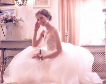 Wedding Tulle Skirt. Bridal Separates. Tulle Bridal Skirt. Wedding Skirt. Full Circle Tulle Skirt. Princess Wedding Dress. Tulle Long Skirt.