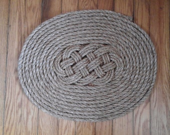 Traditionally Crafted Sailor Mat- True Lovers Flemish Coil Ocean Plait