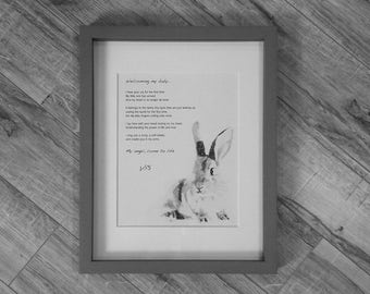 "Framed Baby poem - ""Welcoming my baby"""