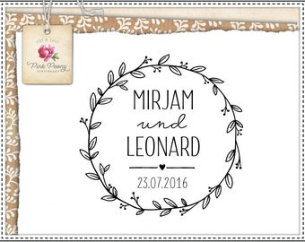Wedding Stamp WREATH NO.01