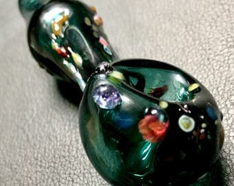 Blown glass tobacco spoon pipe