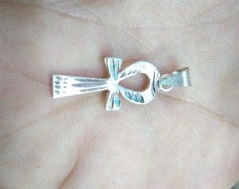 Silver Ankh Pendant