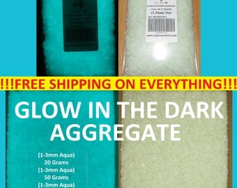UniGlow's Glow In The Dark Aggregate. (AQUA) 1-3mm