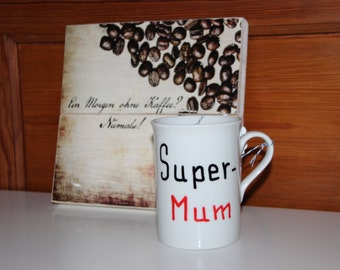 "hand-painted Cup ""Supermum"""