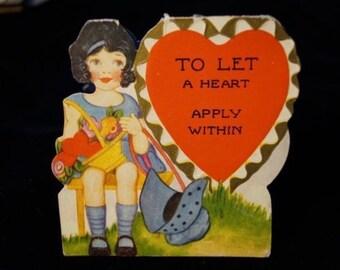 Antique 1929 Valentine Greeting Card