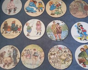 Heinrich Zille (German)  Coaster Set