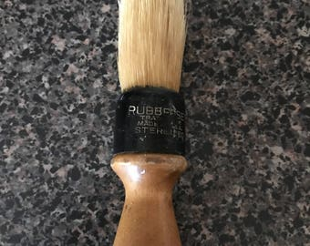 Vintage Rubberset Shave Brush Wood Handle