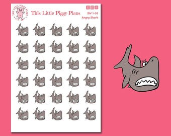Shark Week Period Stickers - Period Tracker Stickers - Planner Stickers - Shark Stickers - [SW 1-03]