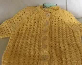 Handmade lemon cardigan 9-12 month old