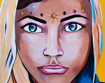 Tamar Goddess 20x16 inch Limited Edition and Signed Fine Art Giclee Print