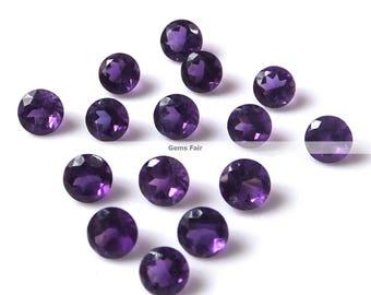 10 pieces 5mm amethyst faceted round gemstone - natural amethyst round faceted loose gemstone - wholesale amethyst - semi precious gemstone
