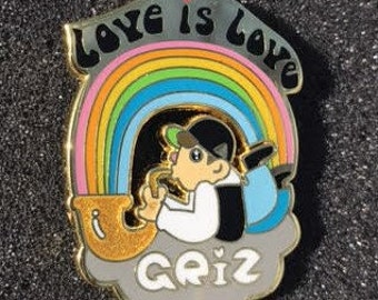 GRIZ Love is Love Hat Pin