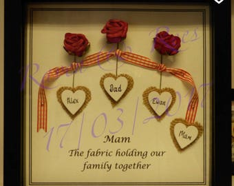 Handmade Personalised Mothers day frame.