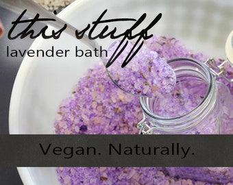 Natural Organic Lavender Bath Salts