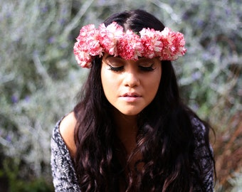 Personalized Carnation Flower Crown