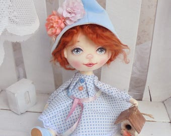 Doll, Art doll, fabric doll, Soft doll, textile doll, interior doll, doll, cloth doll, home decor