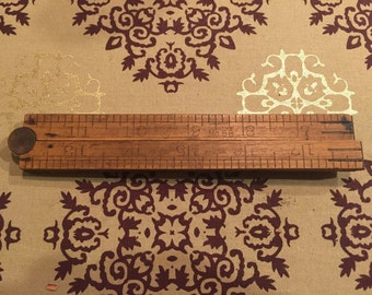 """Vintage Stanley 1950's 24"""" collapsible ruler no. 68"""