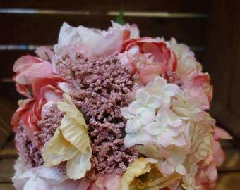Silk Flower Bouquet: Pink