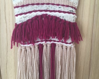 Medium Weaving Wall Hanging, Woven wall hanging, Handmade Weave, Yarn wall hanging