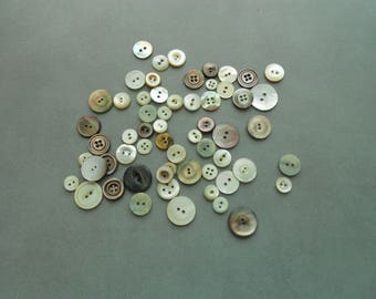 Vintage Pearl Buttons Lot of 55