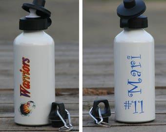 Custom personalized 600 ml (20 oz) aluminum water bottle