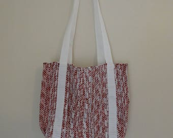 Small Handwoven Tote Using Recyclable Materials