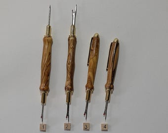 Seam Ripper, Free Shipping, Bethlehem Olivewood, 24k Gold Plated, Stiletto, Quilting, Sewing, Quilting Tool, Sewing Assistant, Special Gift