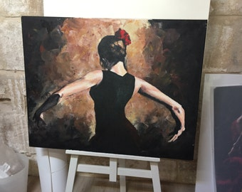 Table painting flamenco dance / flamenco dancer