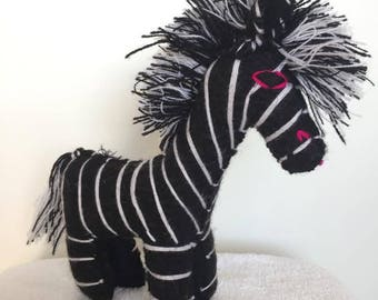 "Handmade stuffed animal ""ZEBRA"""