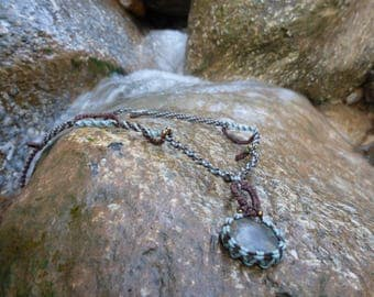 lady in the forest long necklace with jasper