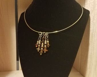 Collar Beaded Hang Design Necklace