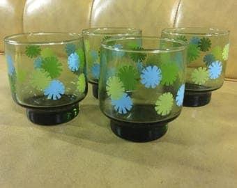 Glasses - Set of 4 retro tumblers