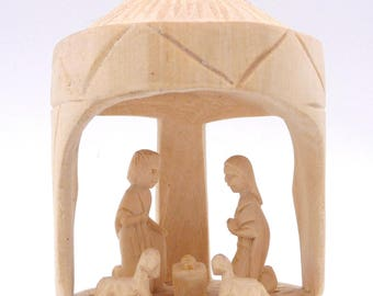 Nativity scene Christmas 5 santons wooden Wood Nativity Scene crafts Madagascar