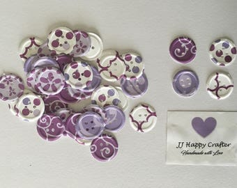 Button punch die cut/ Button punch die cut embellishments/ Button Embellishments/ Paper Button/ Buttom Punch