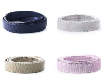 10 cm of flat 20 mm snake leather 2 colors metal reinforced (Navy Blue, pink, white or light khaki)