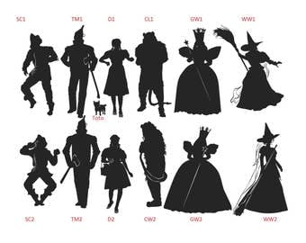 Wizard of Oz Individual Characters Vinyl Decal Sticker Car Truck Window Wall Bumper