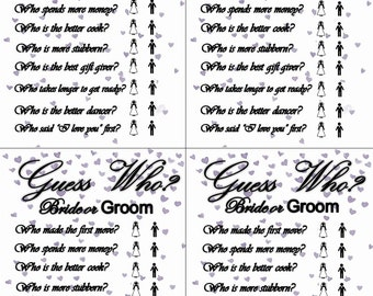 Guess Who? Bridal Shower Game Template