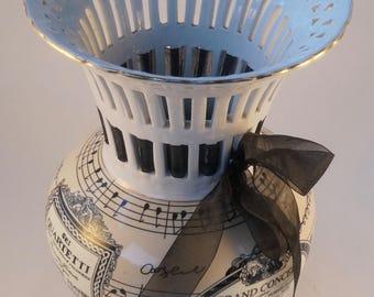 Vintage Balm Bros Melody Collection, Elegant Vase with Music Theme