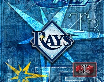 Tampa Bay Rays Layered Poster, Tampa Bay Rays Artwork, Rays Gift for all occasions.