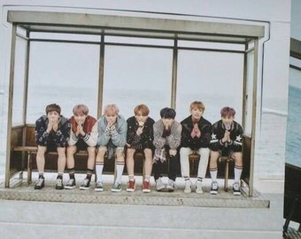 Photo card display official card from you never walk alone BTS