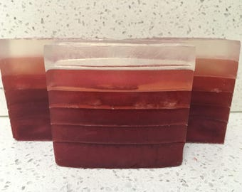 CLEARANCE: Hand-crafted cherry almond layered soap