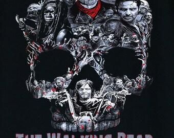 The Walking Dead Walker Skull Negan Rick,Michonne,Daryl,Zombies Men's T-Shirt