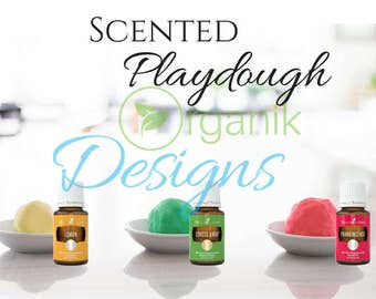 Young Living Essential Oils Scented Play dough Kids Childrens Recipe Sensory Play Graphic Digital File
