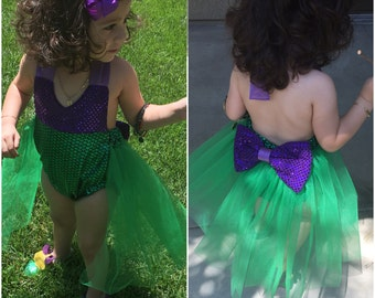 Little Mermaid princess romper