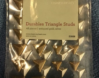 Close to my Heart durable triangle studs